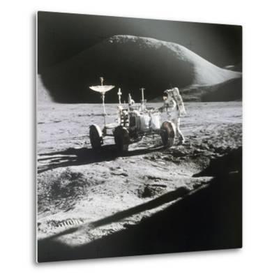 Apollo 15 Moonwalk 1971--Metal Print