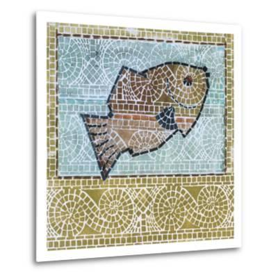 Mosaic Fish-Susan Gillette-Metal Print