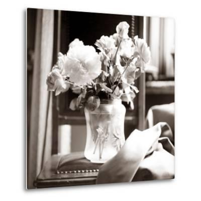 Study of Floral Arrangement-Edoardo Pasero-Metal Print