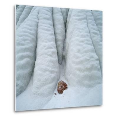 Snowy Cliff-Micha Pawlitzki-Metal Print