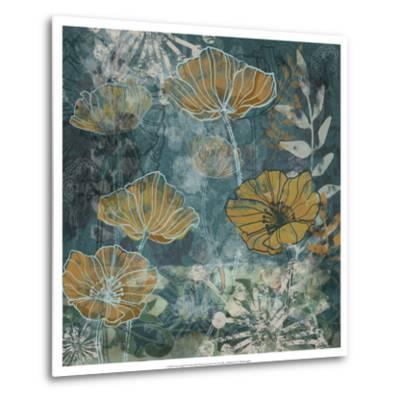 Navy Poppies II-Maria Woods-Metal Print