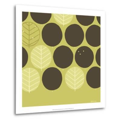 Forest Motif III-Erica J^ Vess-Metal Print