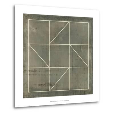 Geometric Blueprint IV--Metal Print