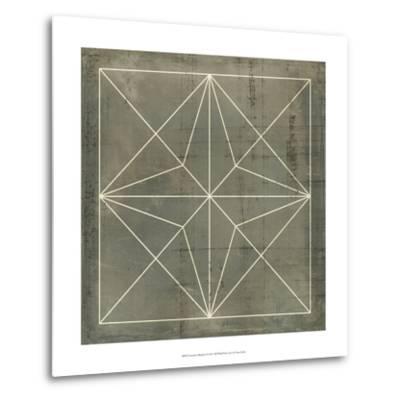 Geometric Blueprint I--Metal Print