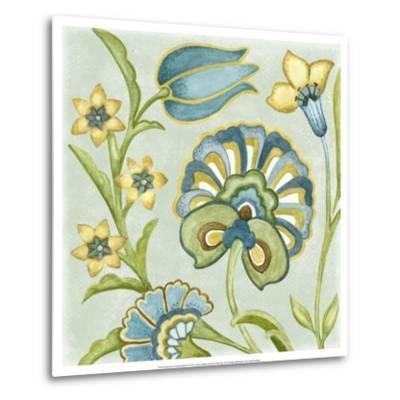 Decorative Golden Bloom II-Sydney Wright-Metal Print