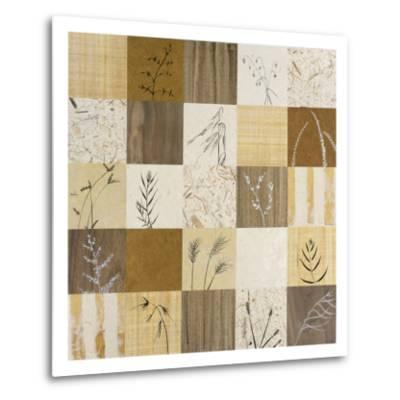 Patchwork of Leaves I-Julieann Johnson-Metal Print