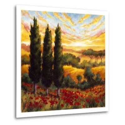 Tuscany in Bloom IV--Metal Print