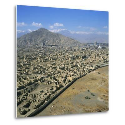 Devastation from Civil War, Kabul, Afghanistan-David Lomax-Metal Print