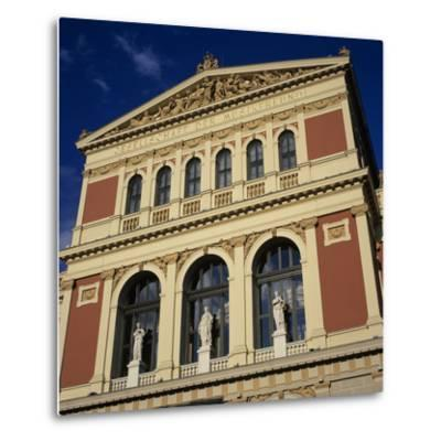 Exterior of Musikverein Concert Hall, Vienna, Austria, Europe-Stuart Black-Metal Print