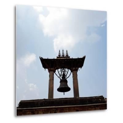 A Bell Tower and Bell--Metal Print