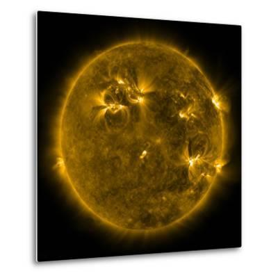 Solar Activity on the Sun-Stocktrek Images-Metal Print