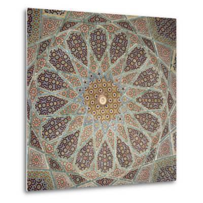 Detail of Interior of the Tomb of the Persian Poet Hafiz, Shiraz, Iran, Middle East-Robert Harding-Metal Print