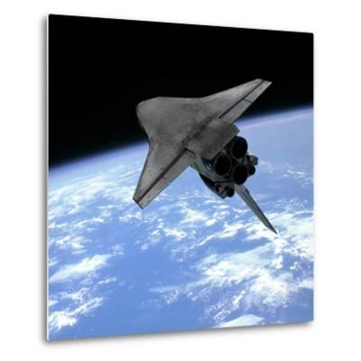 Artist's Concept of a Space Shuttle Entering Earth Orbit-Stocktrek Images-Metal Print