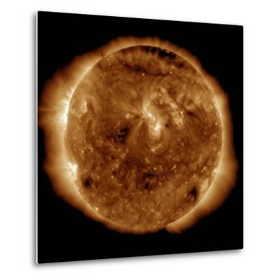 A Dark Rift in the Sun's Atmosphere known as a Coronal Hole-Stocktrek Images-Metal Print
