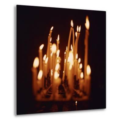Candles, Chartres Cathedral, France, Europe-Robert Harding-Metal Print