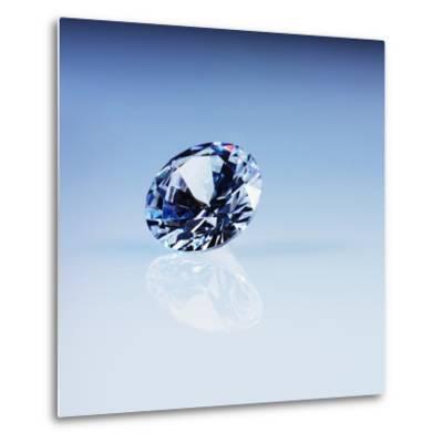 Round Cut Diamond--Metal Print