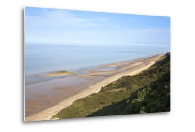 Quiet Beach Between Cromer and Overstrand, Norfolk, England, United Kingdom, Europe-Mark Sunderland-Metal Print
