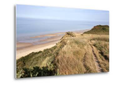 Cliff Path from Cromer to Overstran, Norfolk, England, United Kingdom, Europe-Mark Sunderland-Metal Print