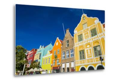 The Colourful Dutch Houses at Sint Annabaai, UNESCO Site, Curacao, ABC Island, Netherlands Antilles-Michael Runkel-Metal Print