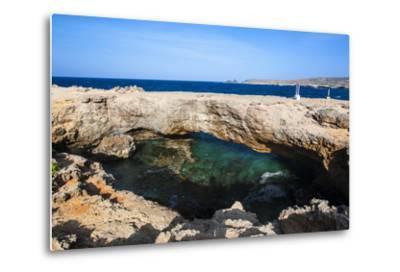 Natural Bridge, Aruba, ABC Islands, Netherland Antilles, Caribbean, Central America-Michael Runkel-Metal Print