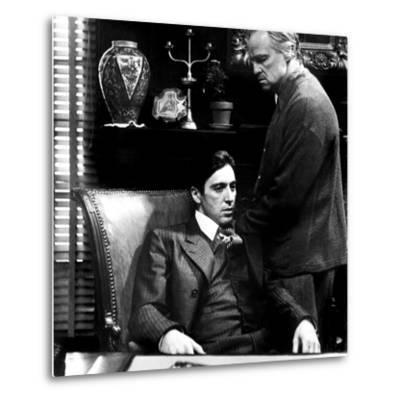 The Godfather, Al Pacino, Marlon Brando, 1972--Metal Print