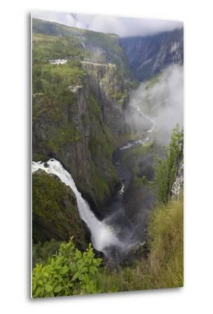 Voringfoss Waterfall, Near Eidfjord, Hordaland, Norway, Scandinavia, Europe-Gary Cook-Metal Print