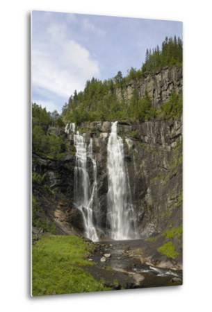 Skjervefossen Waterfall, Near Voss, Hordaland, Norway, Scandinavia, Europe-Gary Cook-Metal Print