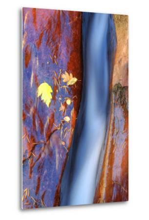 Cobalt Waterflow-Vincent James-Metal Print