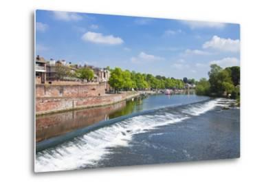 Chester Weir Crossing the River Dee at Chester, Cheshire, England, United Kingdom, Europe-Neale Clark-Metal Print