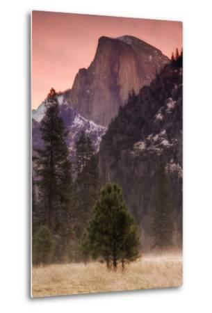 Morning Mist and Half Dome-Vincent James-Metal Print