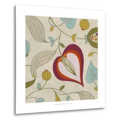 Cabana Floral III-Erica J^ Vess-Metal Print