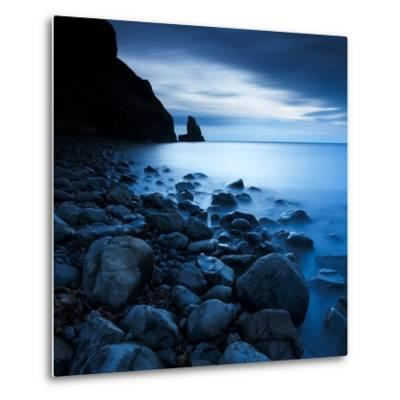 Talisker Bay under a Winter Moon-Doug Chinnery-Metal Print