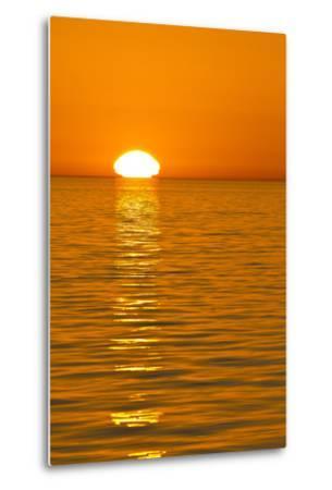 Sunrise, Gulf of California (Sea of Cortez), Baja California, Mexico, North America-Michael Nolan-Metal Print