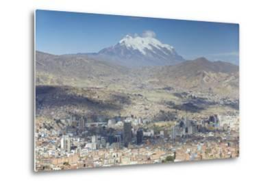 View of Mount Illamani and La Paz, Bolivia, South America-Ian Trower-Metal Print