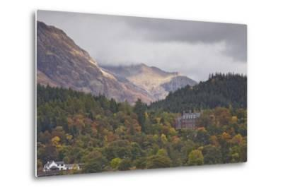 Houses Dotted on the Mountain Side in Glencoe, Highlands, Scotland, United Kingdom, Europe-Julian Elliott-Metal Print