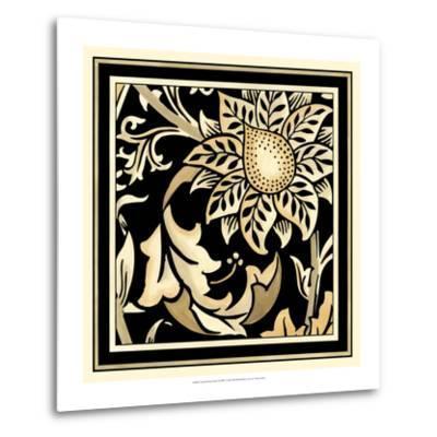 Neutral Floral Motif II-Vision Studio-Metal Print