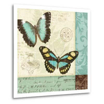 Butterfly Patchwork II-Pela Design-Metal Print