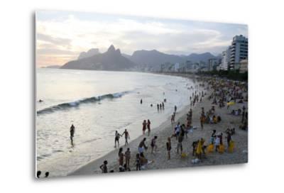Ipanema Beach, Rio de Janeiro, Brazil, South America-Yadid Levy-Metal Print