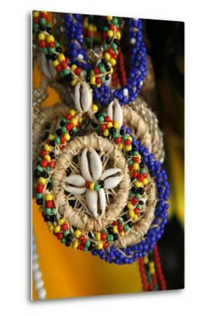 Candomble Wear Strings of Beads Made of Seeds and Shells, Cachoeira, Bahia, Brazil.-Yadid Levy-Metal Print