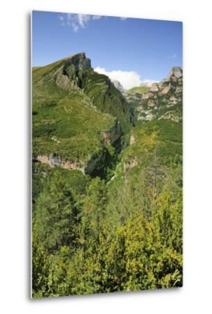 Anisclo Canyon and Eroded Karst Mondoto Peak, Ordesa and Monte Perdido Nat'l Pk, Huesca, Spain-Nick Upton-Metal Print