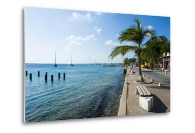 Pier in Kralendijk Capital of Bonaire, ABC Islands, Netherlands Antilles, Caribbean-Michael Runkel-Metal Print