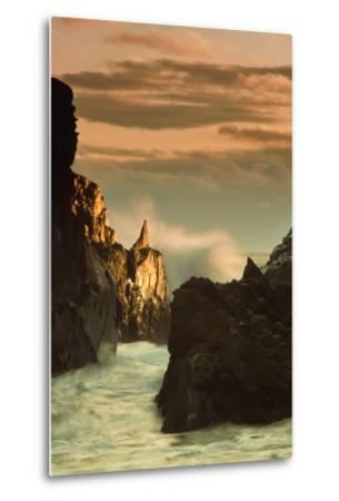 Light Splash at Big Sur-Vincent James-Metal Print