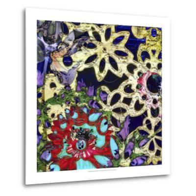 Bejeweled Woodblock IV-Ricki Mountain-Metal Print