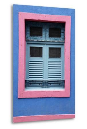 Detail of an Old Colonial House, Olinda, Pernambuco, Brazil, South America-Yadid Levy-Metal Print