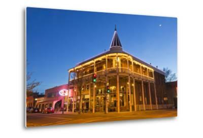 The Weatherford Hotel at Dusk in Historic Downtown Flagstaff, Arizona, USA-Chuck Haney-Metal Print