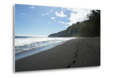 Waipio Valley, Hamakua Coast, Big Island, Hawaii, USA-Douglas Peebles-Metal Print