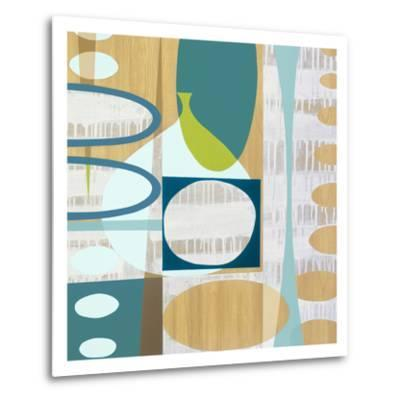 Ocean and Sand 3-Mary Calkins-Metal Print