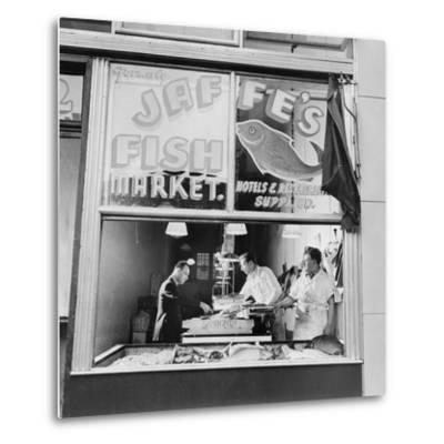 Fish Store in the Lower East Side, the Jewish Neighborhood of New York City. August 1942--Metal Print