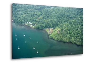 Aerial View of Fort San Fernando, Portobelo, Panama-Jonathan Kingston-Metal Print