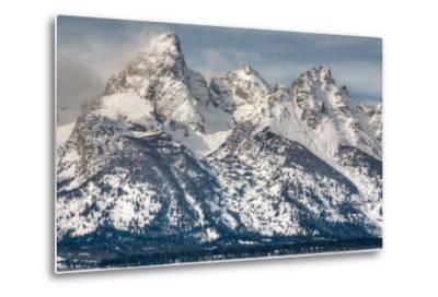 The Grand Teton, Mt. Owen, and Mt. Teewinot in Winter-Greg Winston-Metal Print